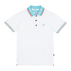 Baker by Ted Baker - Boys' white logo applique polo shirt