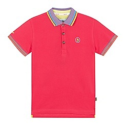 Baker by Ted Baker - Boys' pink logo applique polo shirt