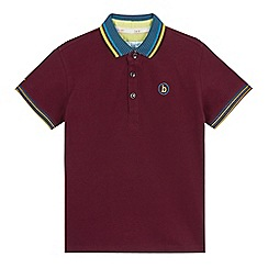 Baker by Ted Baker - Boys' dark purple logo print polo shirt