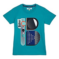 Baker by Ted Baker - Boys' turquoise graphic logo print t-shirt