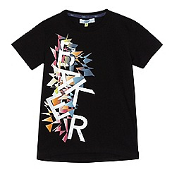 Baker by Ted Baker - Boys' black graphic logo print t-shirt