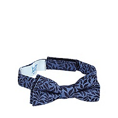 Baker by Ted Baker - Boys' blue leaf patterned bow tie