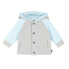 Baker by Ted Baker - Baby boys' grey ribbed sweat jacket