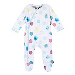 Baker by Ted Baker - Baby boys' white patterned spot sleepsuit