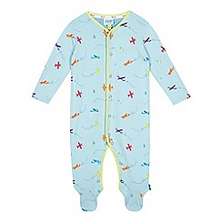 Baker by Ted Baker - Baby girls' blue aeroplane print sleepsuit