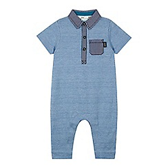 Baker by Ted Baker - Baby boys' blue textured polo romper