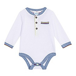 Baker by Ted Baker - Baby boys' white ribbed bodysuit
