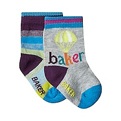 Baker by Ted Baker - Pack of two baby boys' assorted striped socks