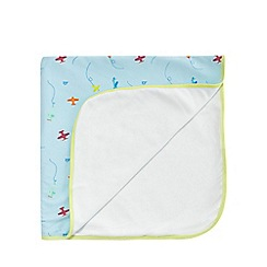 Baker by Ted Baker - Baby boys' light blue plane print blanket