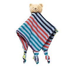 Baker by Ted Baker - Multi-coloured striped print teddy bear comforter