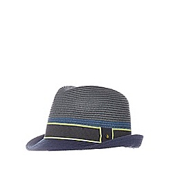 Baker by Ted Baker - Boys' grey colour block trilby hat