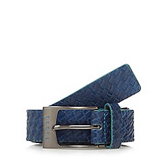 Baker by Ted Baker - Boys' blue leatherette woven belt