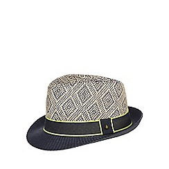 Baker by Ted Baker - Boys' navy diamond trilby hat
