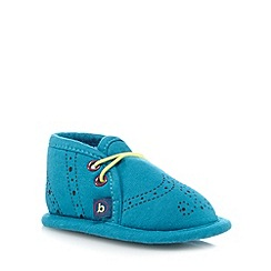 Baker by Ted Baker - Baby boys' turquoise mock lace up booties