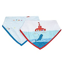 Baker by Ted Baker - Pack of two assorted submarine print bibs