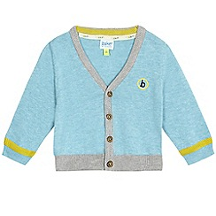 Baker by Ted Baker - Baby boys' light blue textured trim cardigan