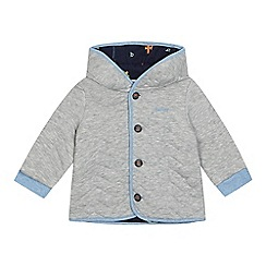 Baker by Ted Baker - Baby boys' grey quilted animal ears hooded jacket