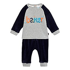 Baker by Ted Baker - Baby boys' grey logo print top and jogging bottoms set
