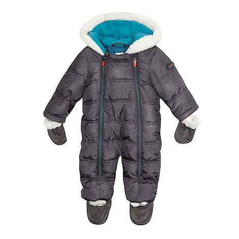 Baker by Ted Baker - Baby boys+ grey padded snowsuit with mittens