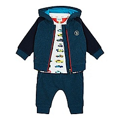 Baker by Ted Baker - Baby boys' turquoise logo print sweater and jogging bottoms set