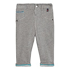Baker by Ted Baker - Baby boys' grey textured herringbone jersey chinos