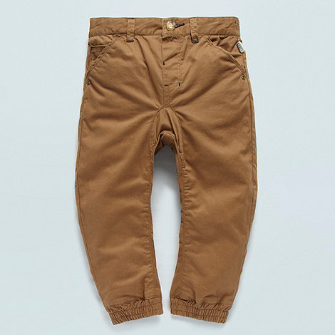 Baker by Ted Baker - Boys brown cuffed peg leg chinos