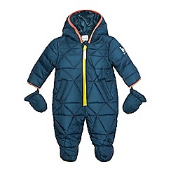 Baker by Ted Baker - Baby boys' dark green snowsuit with mittens