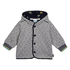 Baker by Ted Baker - Baby boys' grey geometric quilted jersey jacket