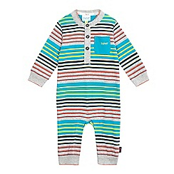 Baker by Ted Baker - Baby boys' multi-coloured striped print romper suit