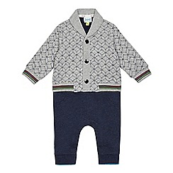 Baker by Ted Baker - Baby boys' grey mock cardigan and trousers romper suit