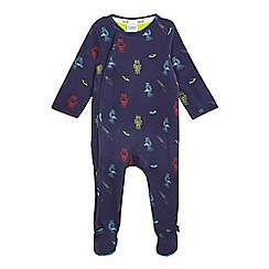 Baker by Ted Baker - Baby boys' navy robot print sleepsuit