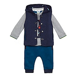 Baker by Ted Baker - Boys' navy printed three piece set