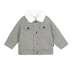 Baker by Ted Baker - Baby boys' grey herringbone borg lined jacket