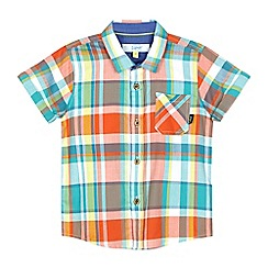 Baker by Ted Baker - Boys' light blue checked print shirt