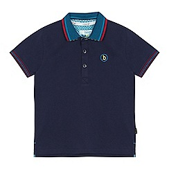Baker by Ted Baker - Boys' navy logo print polo shirt