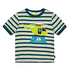 Baker by Ted Baker - Boys' green striped print t-shirt