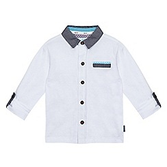 Baker by Ted Baker - Boys' white textured long sleeved polo shirt