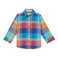 Baker by Ted Baker - Boys' multi-coloured checked print shirt