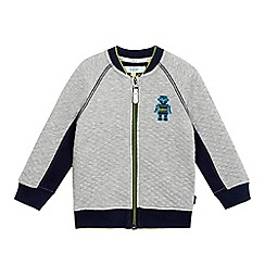 Baker by Ted Baker - Boys' grey quilted stitched robot bomber jacket