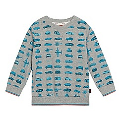 Baker by Ted Baker - Boys' grey car print crew neck jumper