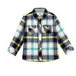 Baker by Ted Baker - Boys multi-coloured checked print shirt