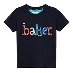 Baker by Ted Baker - Boys' navy slogan print t-shirt