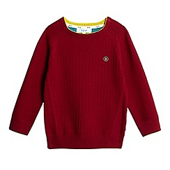 Baker by Ted Baker - Boys' dark red textured stitched logo jumper