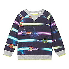 Baker by Ted Baker - Boys' navy rocket ship print jumper