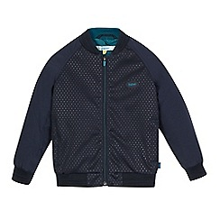 Baker by Ted Baker - Boys' navy spotted mesh bomber jacket