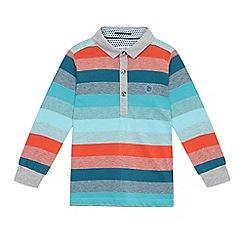 Baker by Ted Baker - Boys' blue long sleeved polo shirt