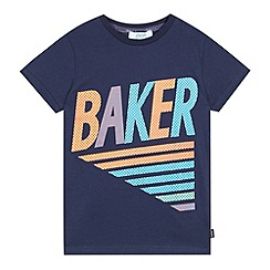 Baker by Ted Baker - Boys' navy logo printed top