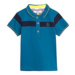 Baker by Ted Baker - Boys' blue tipped collar polo shirt