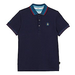 Baker by Ted Baker - Boys' navy striped trim polo shirt