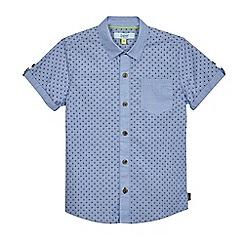 Baker by Ted Baker - Boys' blue geometric print shirt